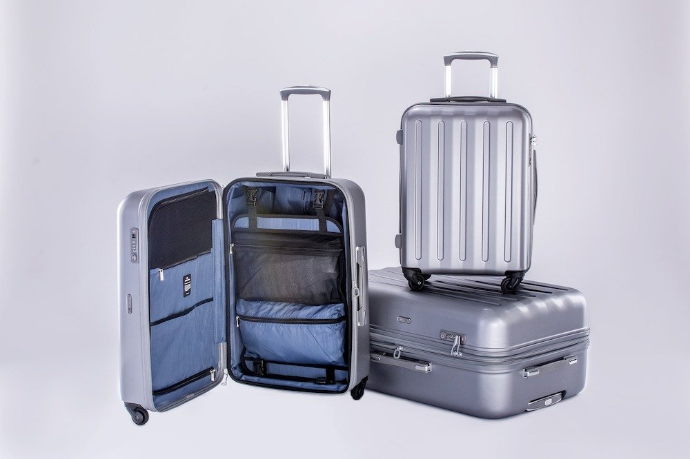 Luggage set metallic