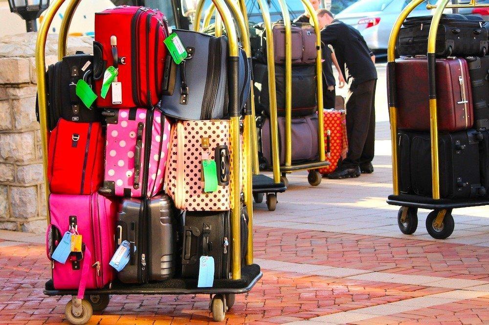 Luggage trolley at a hotel
