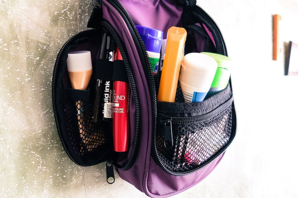 Neatpack toiletry bag main compartment and pockets