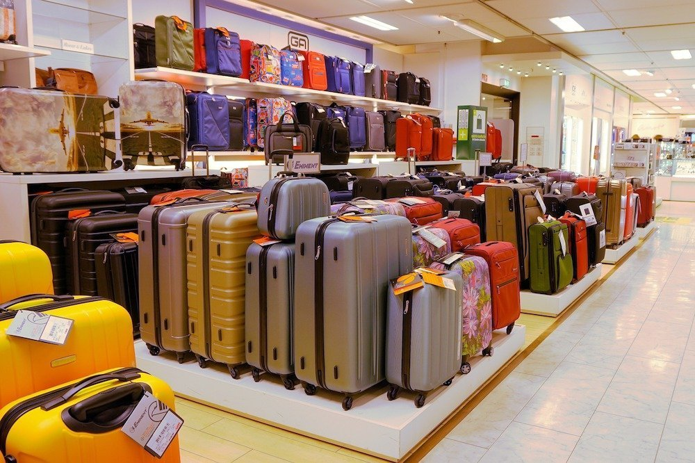 Suitcases in a store