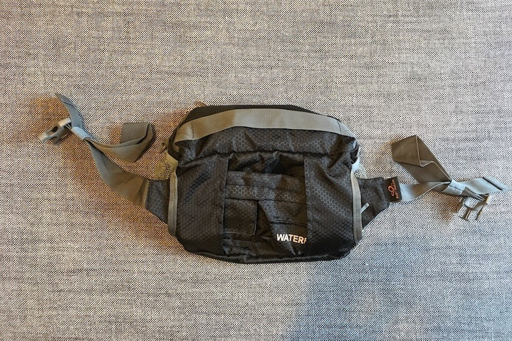 The Back of the Large WaterFly Waist Bag