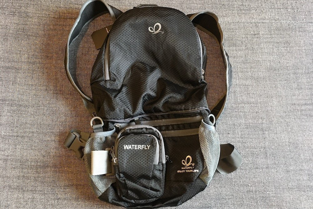 The WaterFly backpack with a Arm Bag