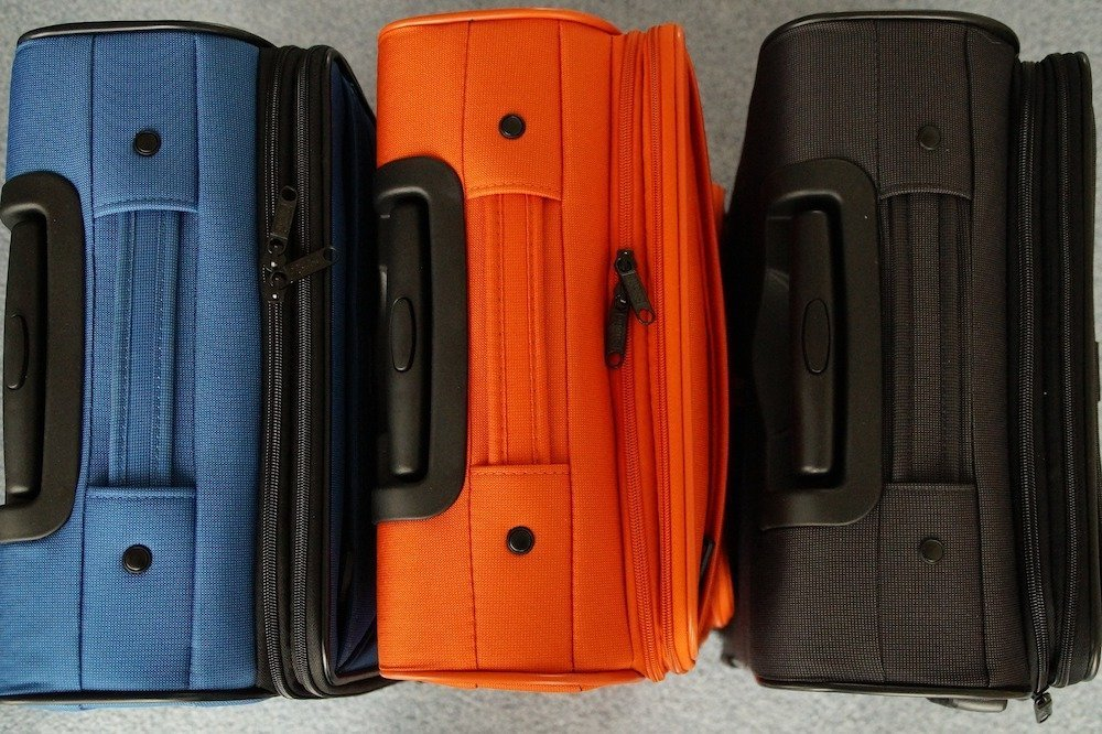 Three suitcases