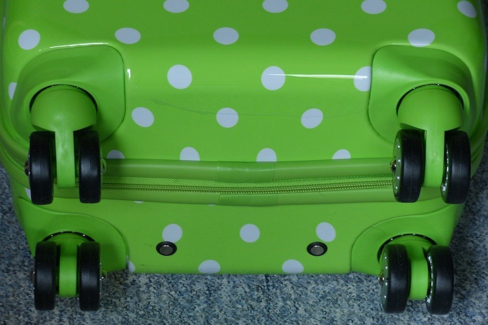 Wheels of a suitcase