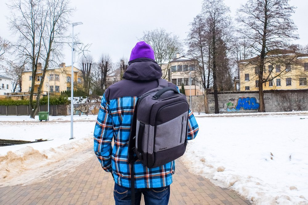 Kaspars with his Standard's Daily Backpack
