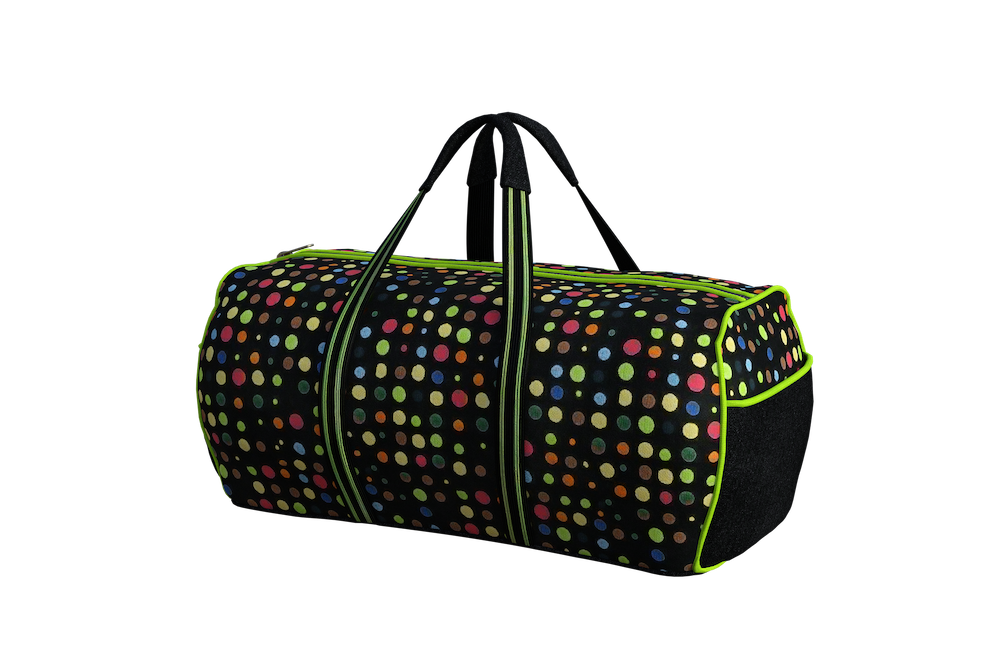 Colorful duffel bag
