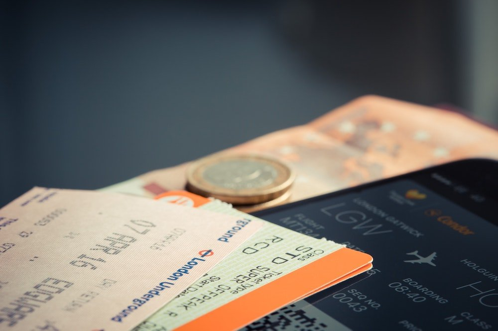 Airline tickets and money