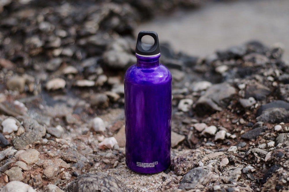 Purple sports bottle