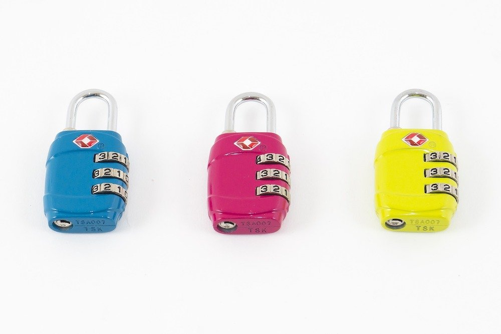 Colorful TSA approved luggage locks - Best luggage locks