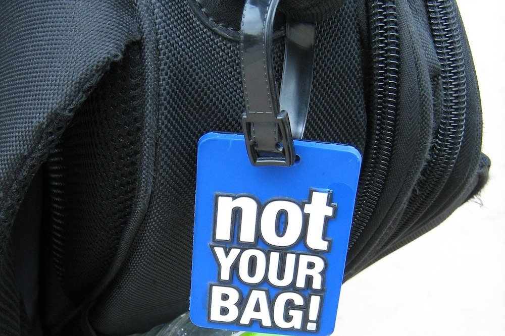 Luggage tag on a suitcase - Best luggage tags