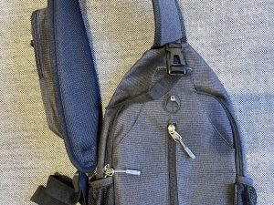 Pockets and compartments of Waterfly Mini sling bag