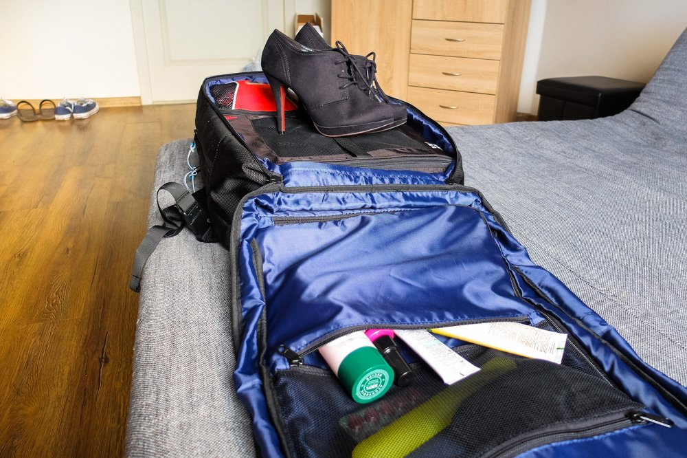 Standards Carry on Backpack - packed
