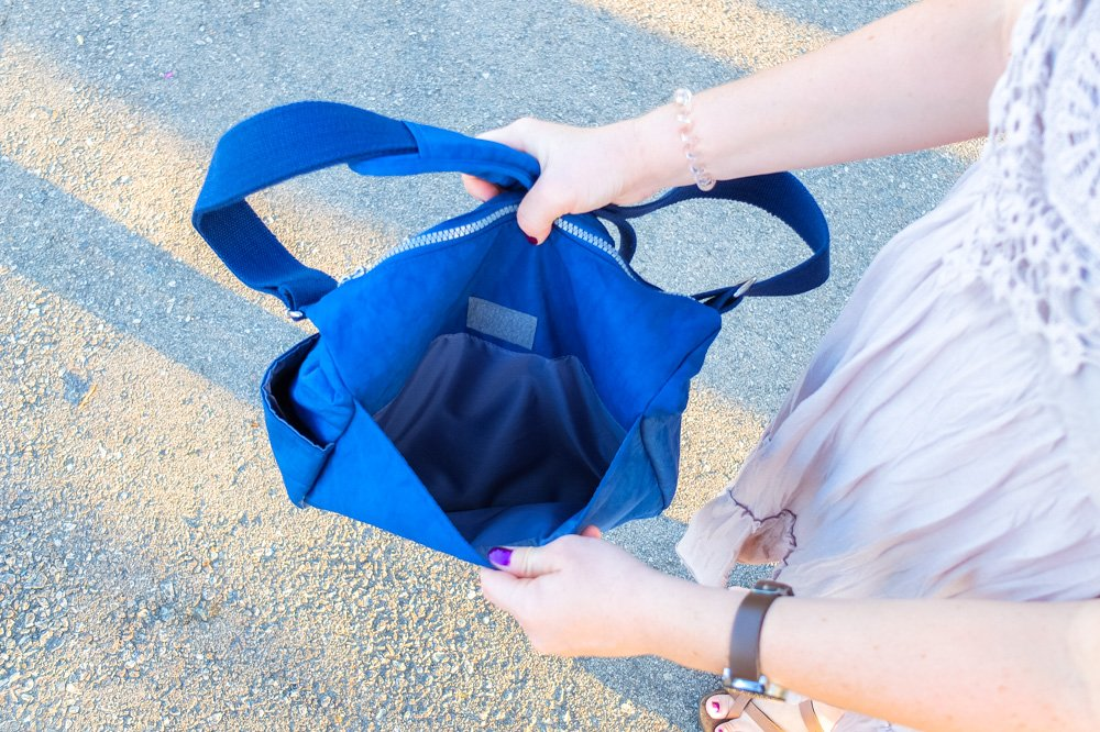 Back compartment of Neatpack crossbody bag - NeatPack Crossbody Bag Review