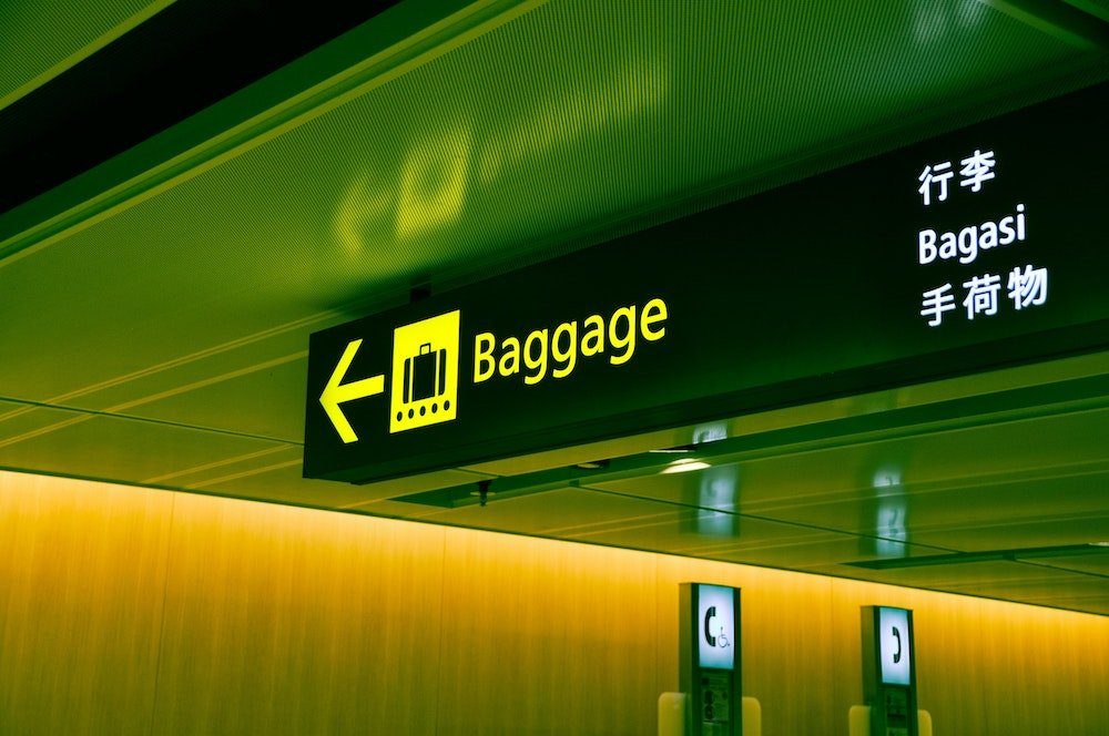 Baggage claim in airport