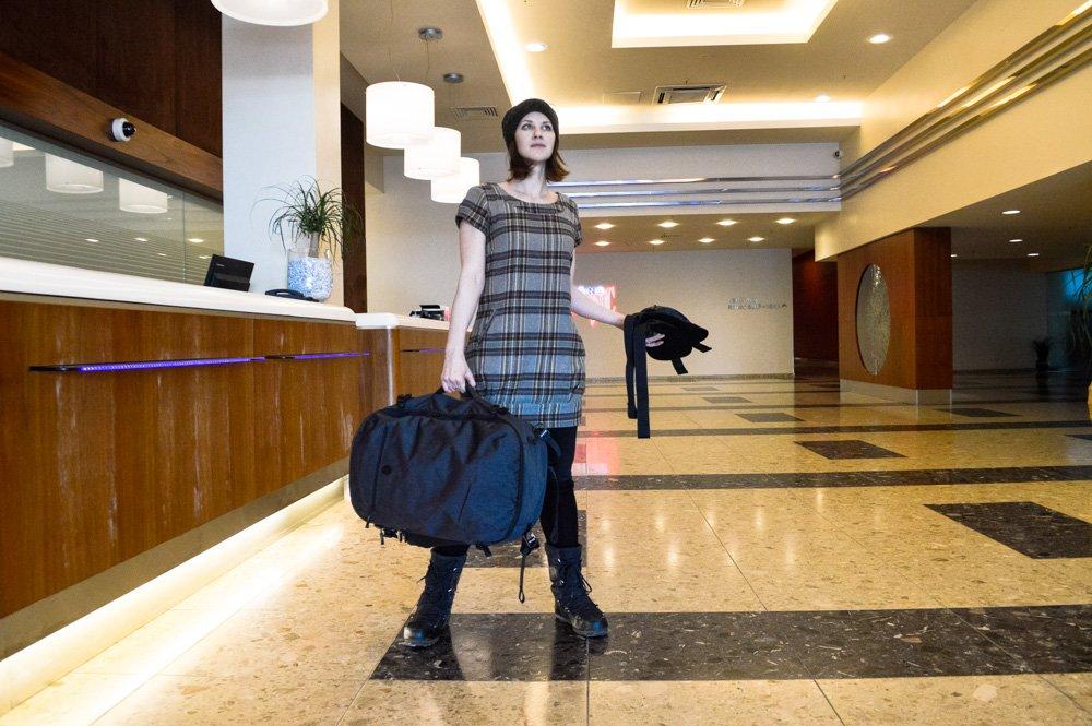 Tortuga Setout as a duffel bag