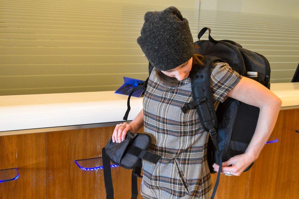 Wearing Tortuga Setout backpack