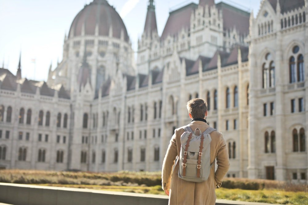 Man with a backpack, Budapest - Best everyday backpacks