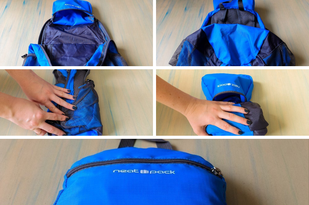 How to fold a packable daypack